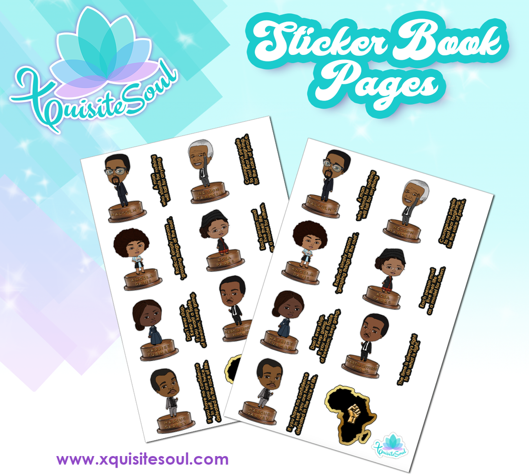 Black History Month Sticker Book Sheet