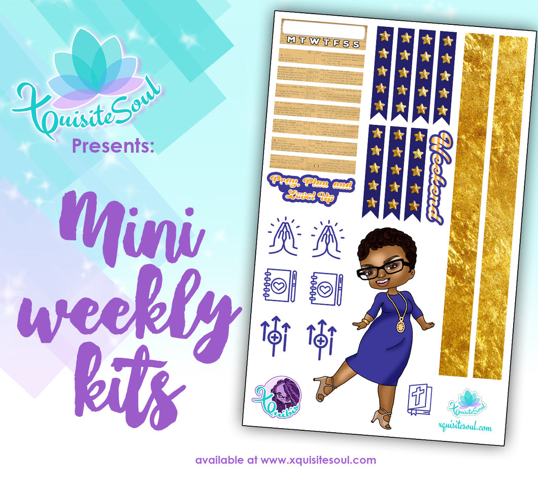 Pray, Plan and Level Up XQuibi African American Mini Weekly Kit