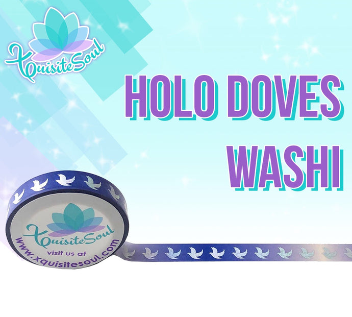 Holo Doves Washi