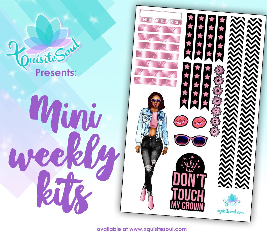 Don't Touch My Crown African American Mini Weekly Kit