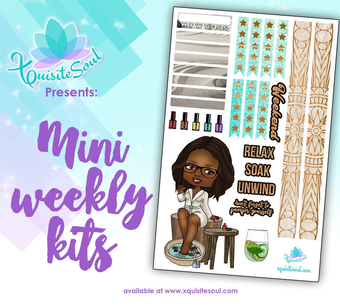 Spa Day XQuibi African American Mini Weekly Kit
