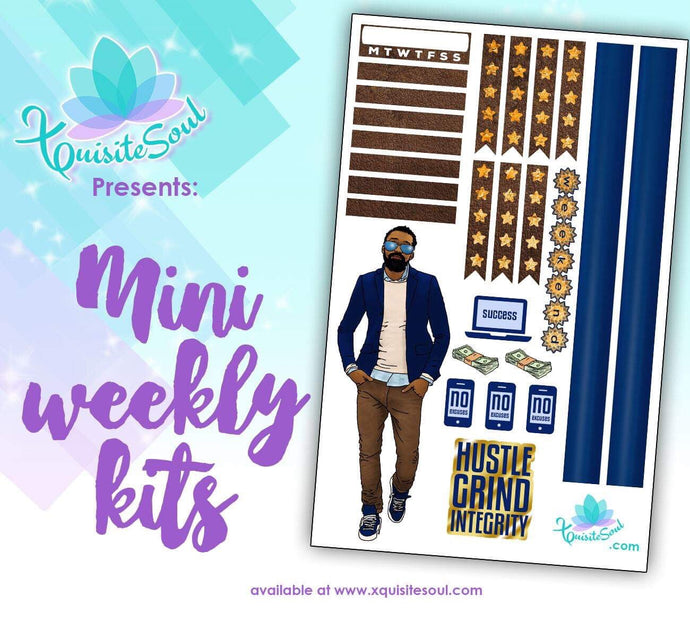 Hustle Grind Integrity African American Mini Weekly Kit