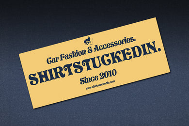 SHIRTSTUCKEDIN 70S STYLE CLUB STICKER
