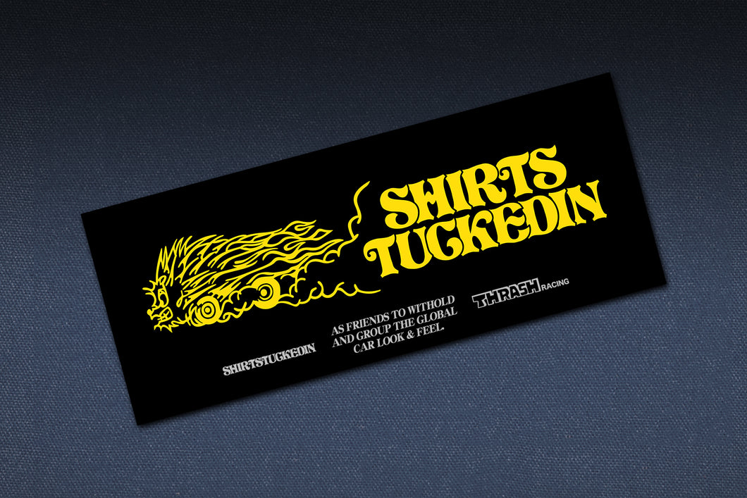 SHIRTSTUCKEDIN X THRASH RACING CLUB STICKER V4