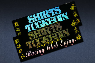 SHIRTSTUCKEDIN RACING CLUB ENJOY NARA-KEN CLUB STICKER