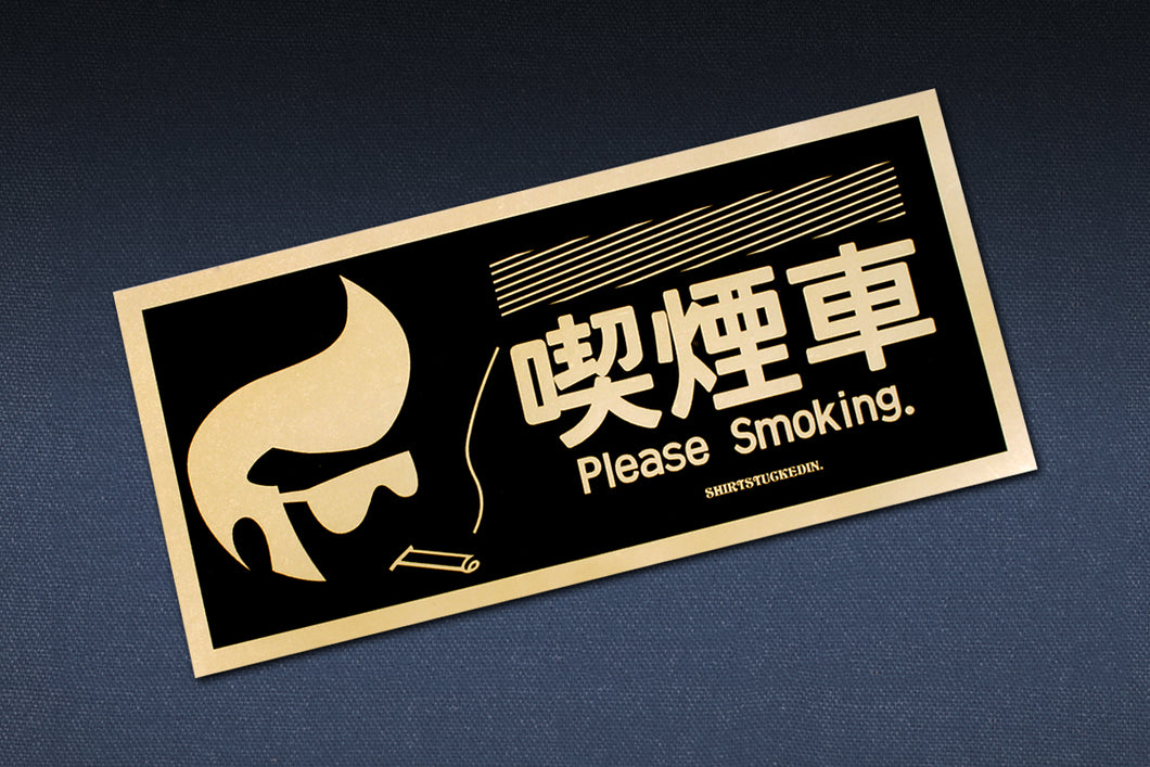 SHIRTSTUCKEDIN PLEASE SMOKING V2 STICKER