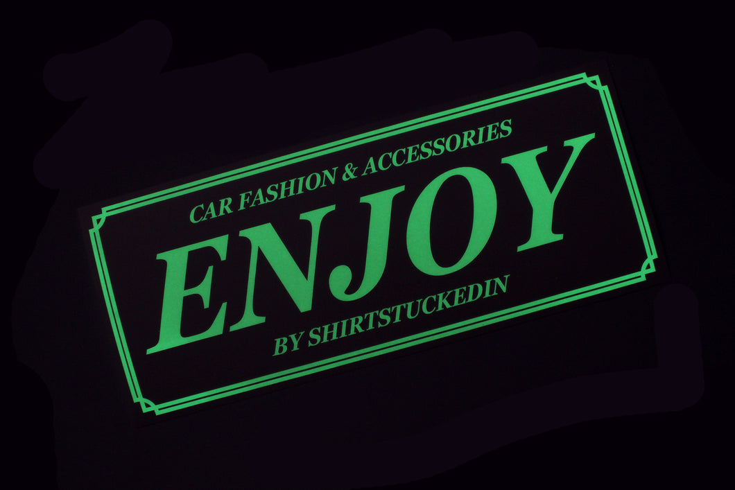 SHIRTSTUCKEDIN ENJOY OLD STYLE STICKER