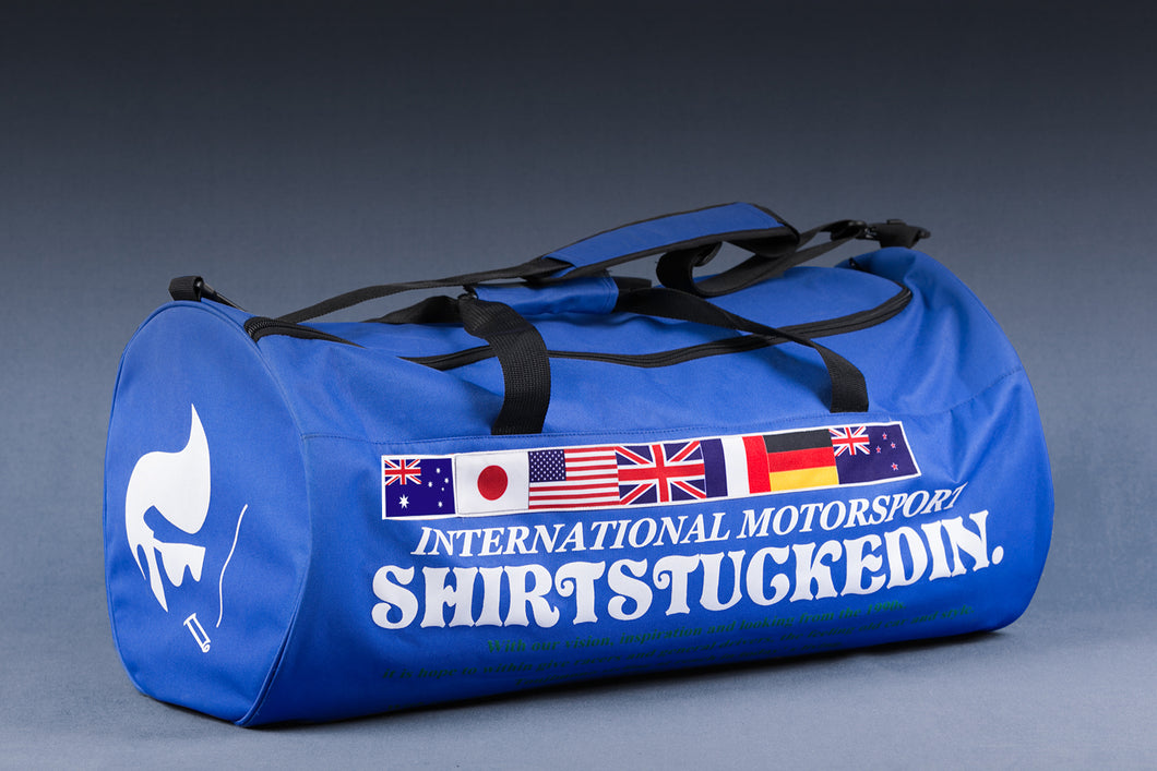 SHIRTSTUCKEDIN DRIVING FORCE 90S STYLE DUFFLE BAG