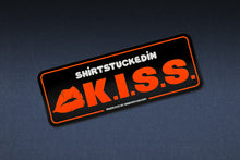 "SHIRTSTUCKEDIN ""K.I.S.S."" ROUNDED STICKER"