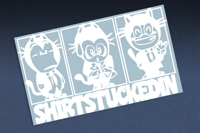 SHIRTSTUCKEDIN YUKI-CHAN 3 PANEL MANGA STYLE STICKER