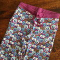 Baggy pants for adults - Pansy Violet - Organic by DUNS