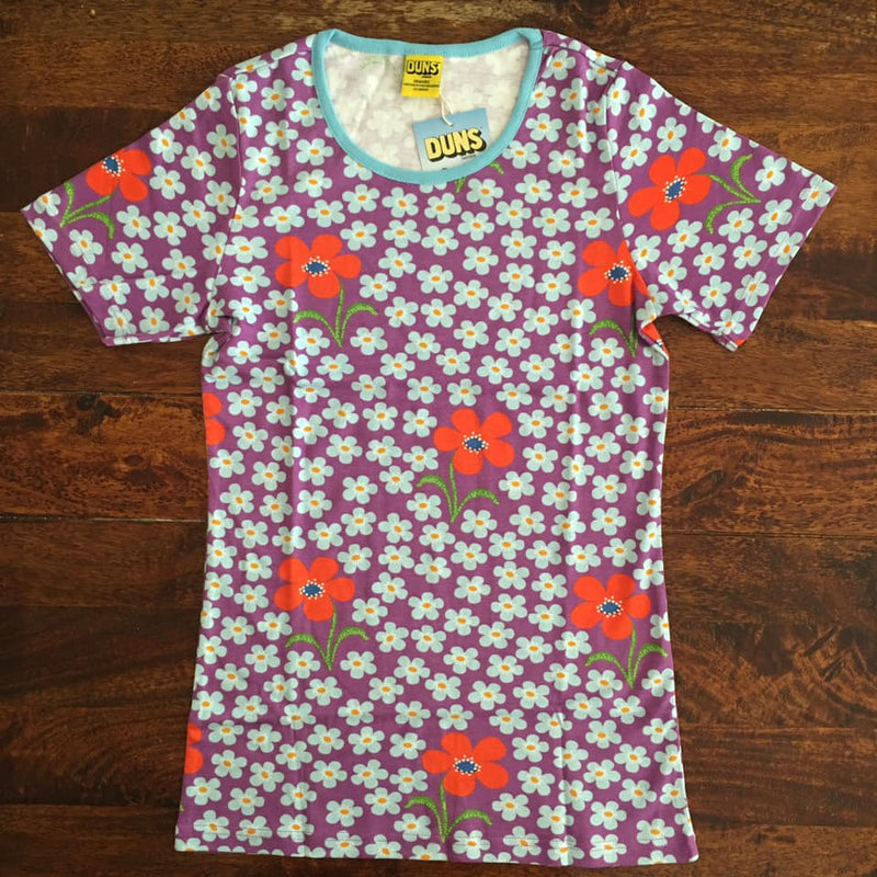 DUNS t-shirt for adults flower orchid @kidsloverainbowcolours
