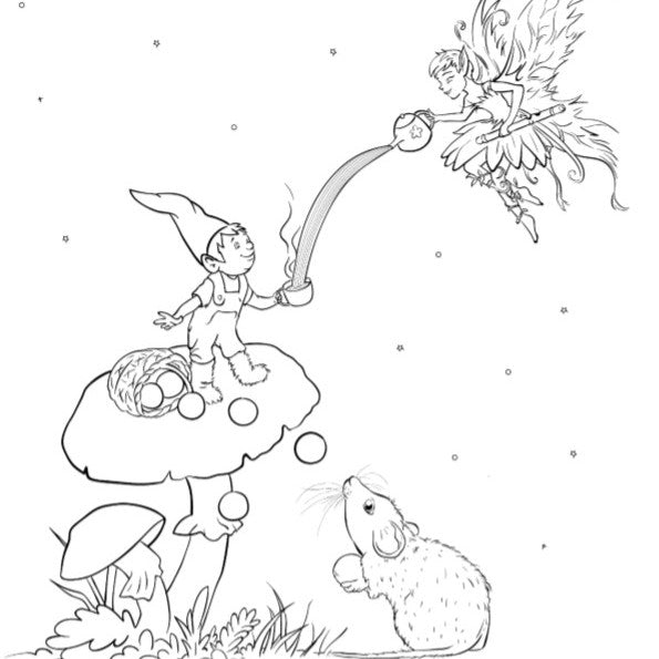Free colouring pages printable download Coddi and womple