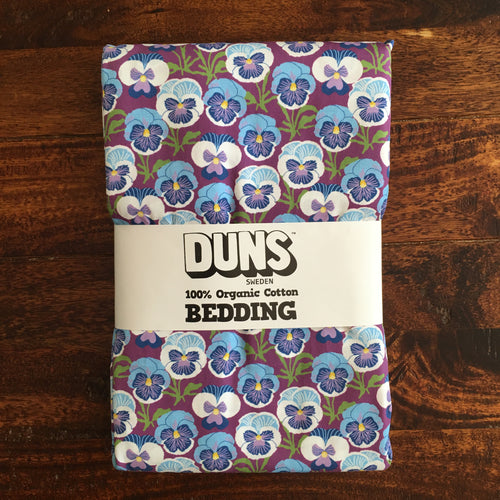 Bedding: Doona cover and pillow case, single - Pansy Violet - Organic by DUNS
