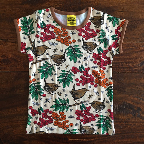 Scandi DUNS kids t-shirt with rowanberry  pearl