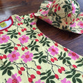 kids dress rosehip DUNS Sweden and sun hat by @kidsloverainbowcolours