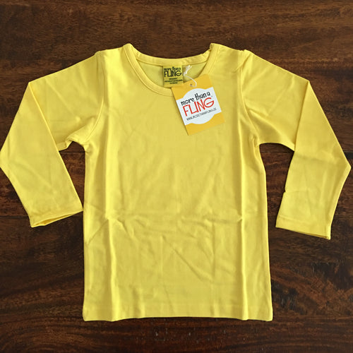 Kids ls shirt in yellow organic MTAF