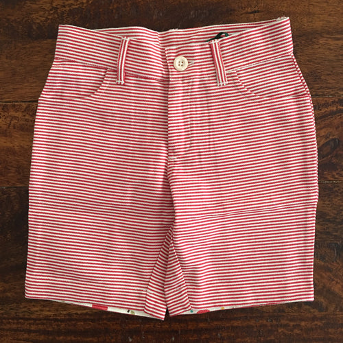 Shorts - Red Striped sunshine shorts - Organic by Little Green Radicals