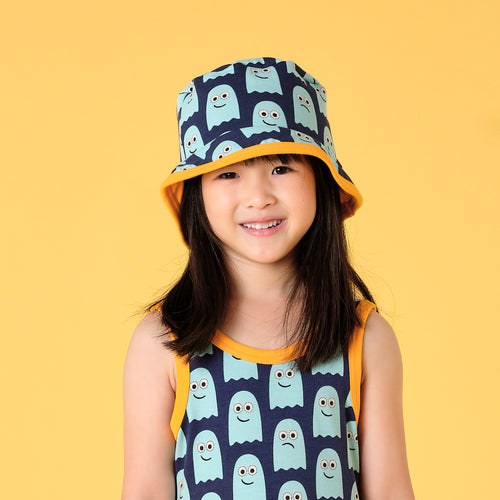 Maxomorra classic kids sun hat ghost