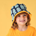 Fun Maxomorra classic kids sun hat ghost