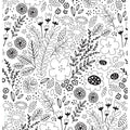 Free colouring pages printable download Wildflowers for kids