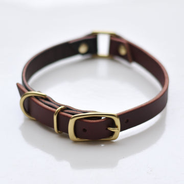 Custom Linked Leather Dog Collar - 3/4in, & 1in
