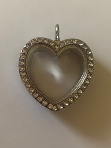 Heart Pearl/Gem Locket