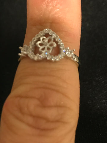 Hearts of Love Ring SS Mount