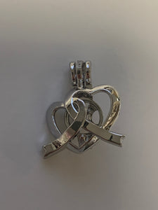 2 Hearts Silver Plated