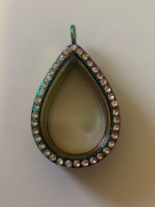 Rainbow Tear Pearl/Gem Locket
