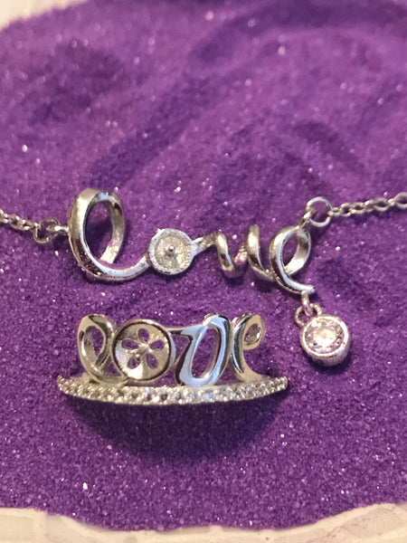 Love Necklace / Ring SS Mount Set