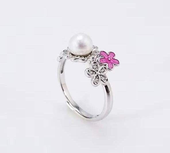 Delicate flower ss ring mount