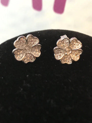 Flower Stud Earring SS Mounts