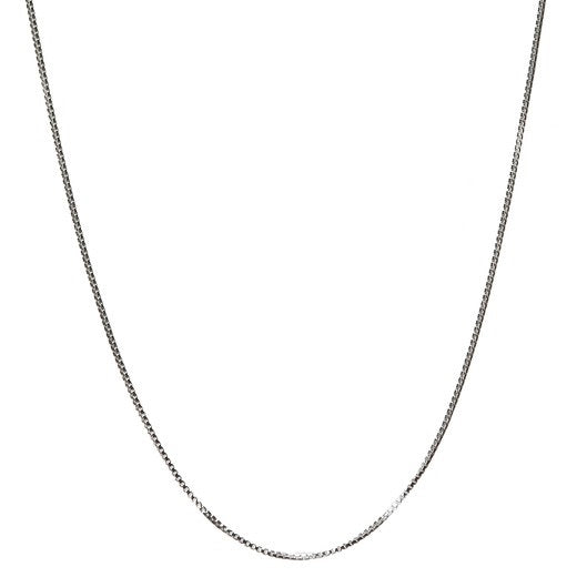 Sterling silver box chain 18""