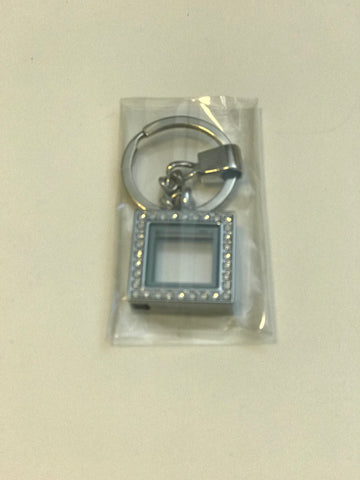 Square Gemstone Keychain Locket
