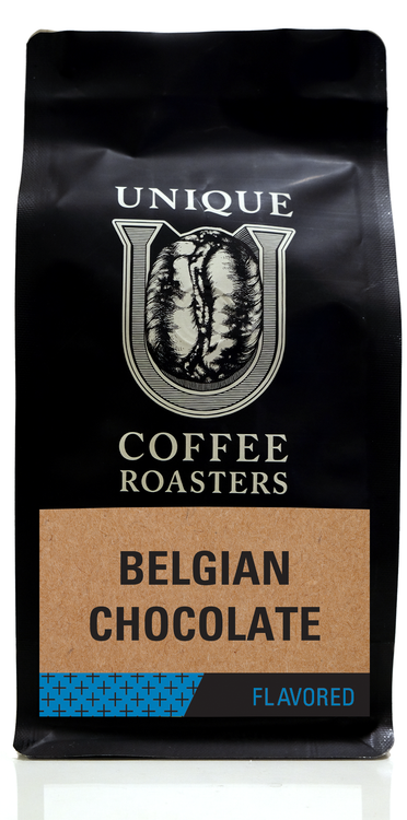 Belgian Chocolate Flavored Coffee - Unique Coffee Roasters [16oz (1lb)(453.6g)]