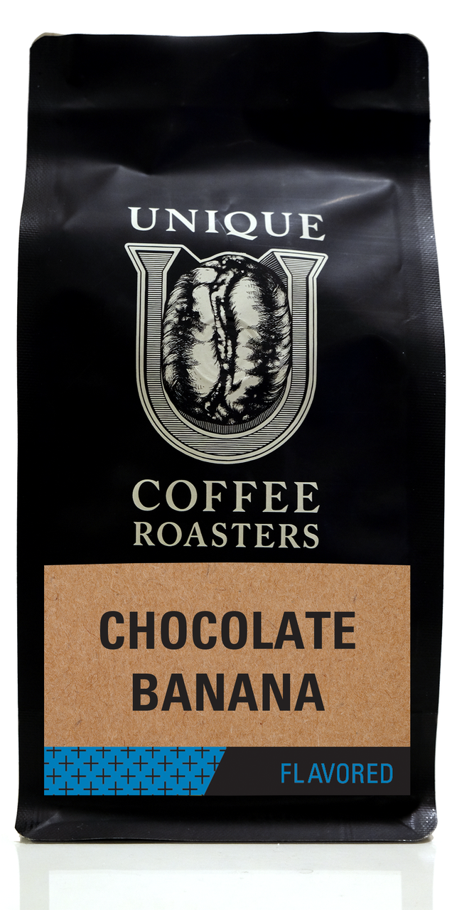 Chocolate Banana Flavored Coffee - Unique Coffee Roasters [16oz (1lb)(453.6g)]