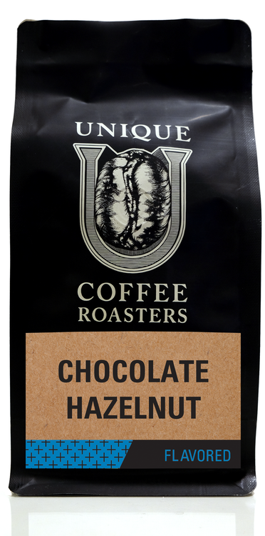 Chocolate Hazelnut Flavored Coffee - Unique Coffee Roasters [16oz (1lb)(453.6g)]