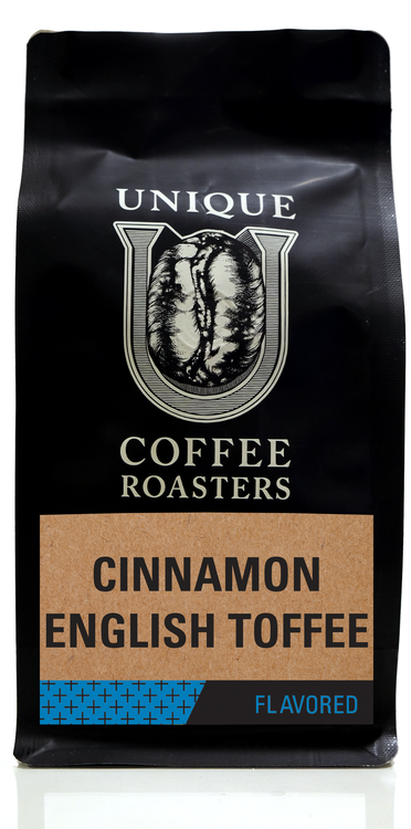 Cinnamon English Toffee Flavored Coffee - Unique Coffee Roasters [16oz (1lb)(453.6g)]