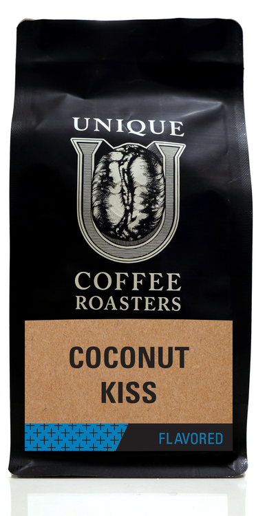 Coconut Kiss Flavored Coffee - Unique Coffee Roasters [16oz (1lb)(453.6g)]