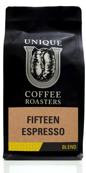 Fifteen Espresso Blend - Unique Coffee Roasters [16oz (1lb)(453.6g)]