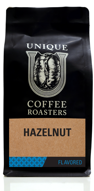 Hazelnut Flavored Coffee - Unique Coffee Roasters [16oz (1lb)(453.6g)]