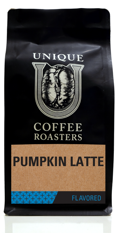 Pumpkin Latte Flavored Coffee - Unique Coffee Roasters [16oz (1lb)(453.6g)]