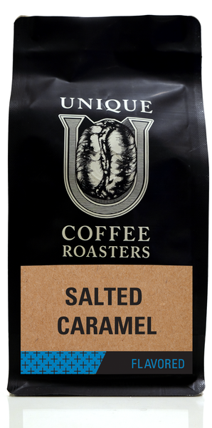 Salted Caramel Flavored Coffee - Unique Coffee Roasters [16oz (1lb)(453.6g)]