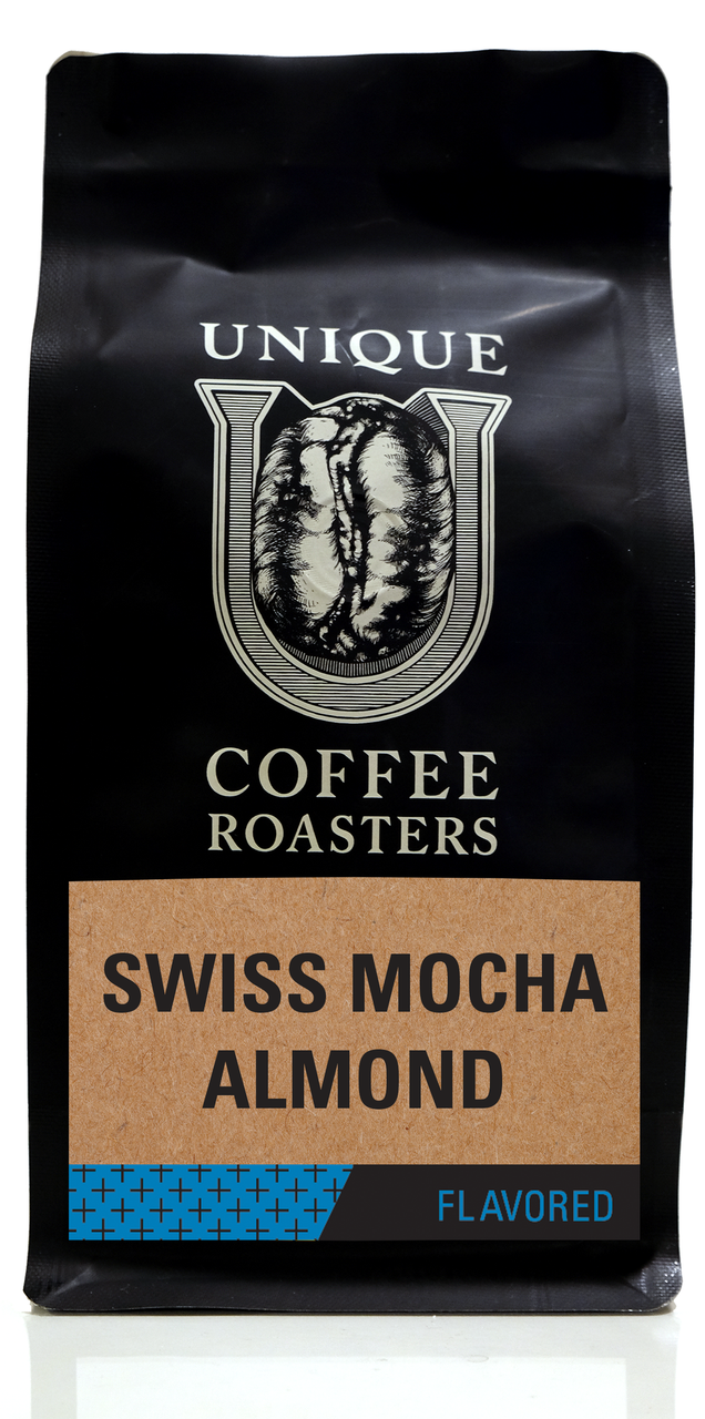 Swiss Mocha Almond Flavored Coffee - Unique Coffee Roasters [16oz (1lb)(453.6g)]