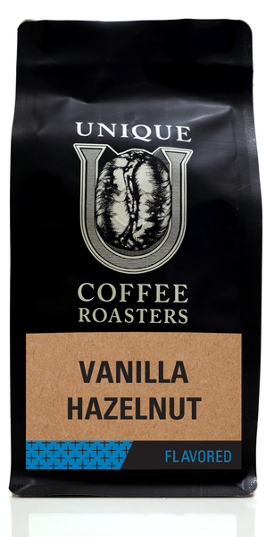 Vanilla Hazelnut Flavored Coffee - Unique Coffee Roasters [16oz (1lb)(453.6g)]