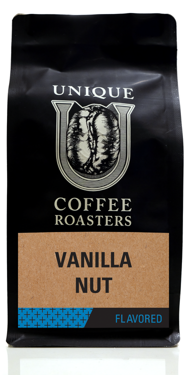 Vanilla Nut Flavored Coffee - Unique Coffee Roasters [16oz (1lb)(453.6g)]
