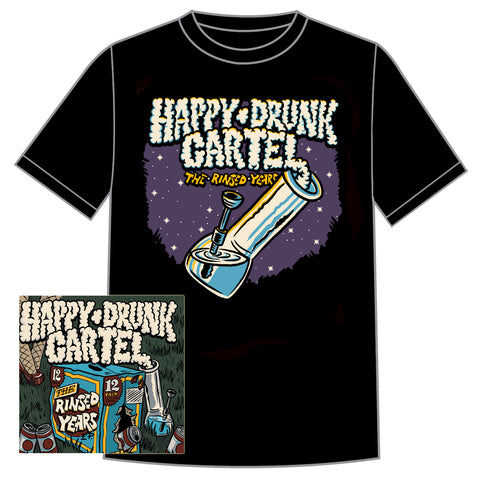"Happy Drunk Cartel ""The Rinsed Years"" EP  CD/Shirt Bundle"