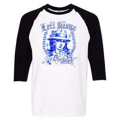 "Left Alone ""Te Quiero Ver""Baseball Shirt Black Sleeve"