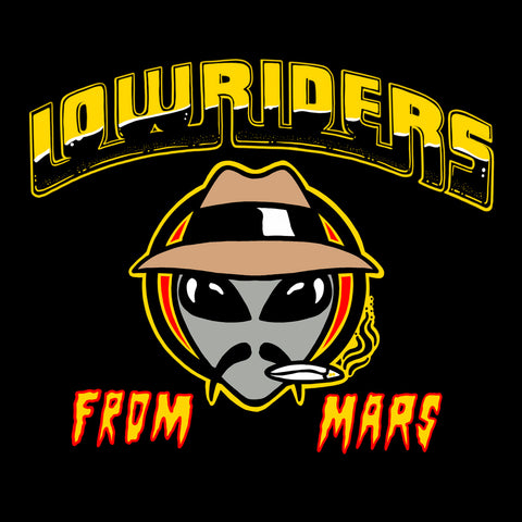 "Manic Hispanic ""LowRiders From Mars"" Sticker"